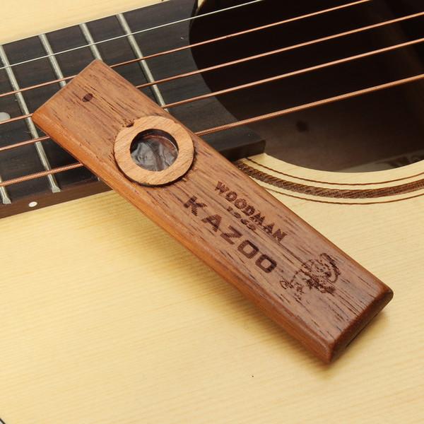 best selling Woodman Premium Wooden Kazoo Orff Instruments Ukulele Guitar Partner Wood Harmonica Kazoo With Metal Box Flute Instrument