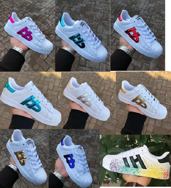 Chaud 2019 Mode Hommes smith Casual chaussures Superstar Femme Chaussures Plates Femmes Zapatillas Deportivas Mujer Lovers Sapatos Femininos chaussures