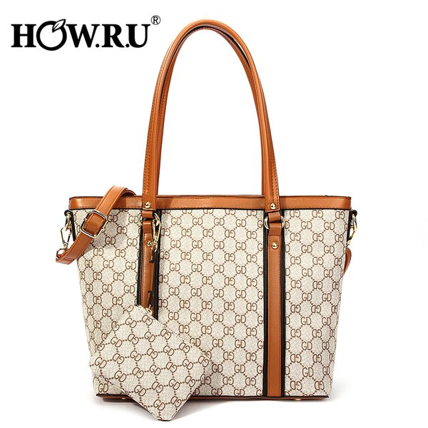Howru Designer Bags Famous Brand Women Tote Bags With Long Handles Large Capacity Shoulder Bag Luxury Handbags With Coin Purses C19031601