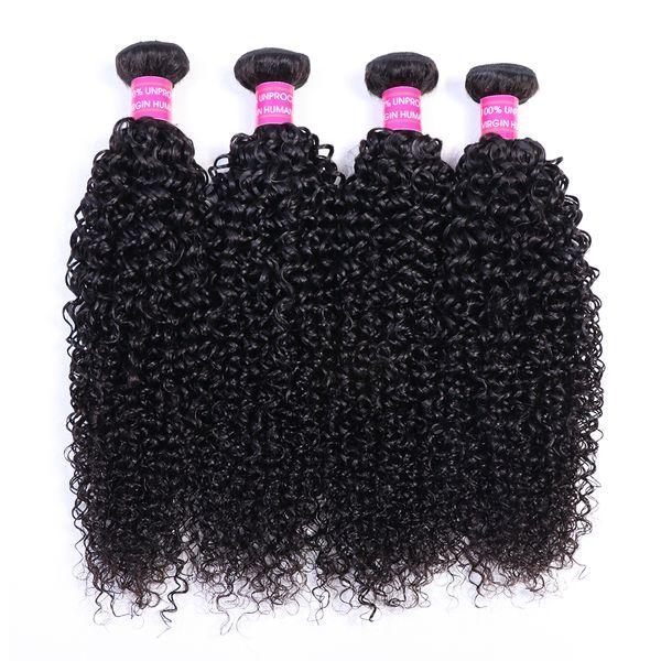 AIS pelo virginal brasileño cabello humano teje extensiones 4 paquetes rizado natural 1B color 10-28 pulgadas indio pelo malasio peruano