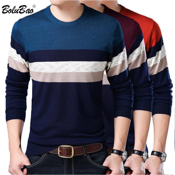 bolubao brand pullover men sweater spring new slim fit male sweaters splice comfortable men's sweater top