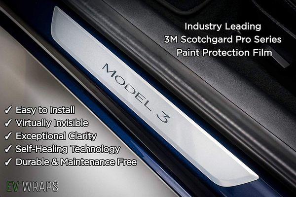 top popular Door Sill Protector for Tesla Model 3 2021