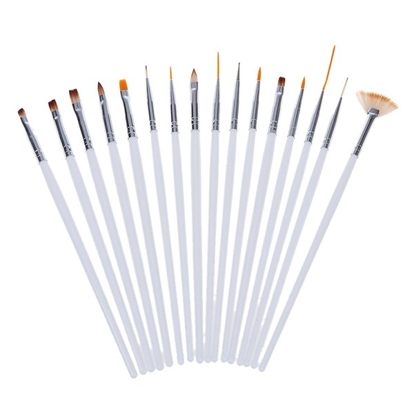16 adet Fırça UV Jel Tırnak Akrilik Nail Art Süsleyen Aracı Modelleme Seti