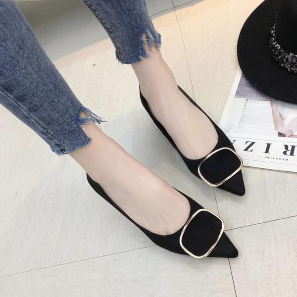 Designer Chaussures De Chaussures De Mode Femmes Sexy Talons Hauts Pointu Pompes 2019 Dames Simple Flock Femme Chaussure
