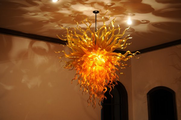 European Contemporary Chandeliers Sale Free Shipping Fast Delivery High Ceiling Hand Blown Glass Pendant House Deco