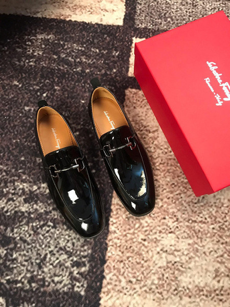 207501 New Lacquer Pilot A Pedal Casual Men Dress Moccasins Loafers Lace Ups Boots Drivers Sneakers Shoes