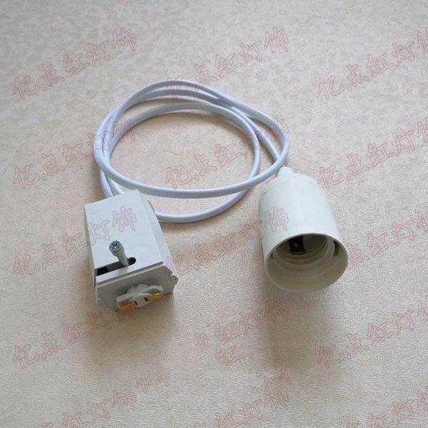 Track to E27 Light Body White 1m