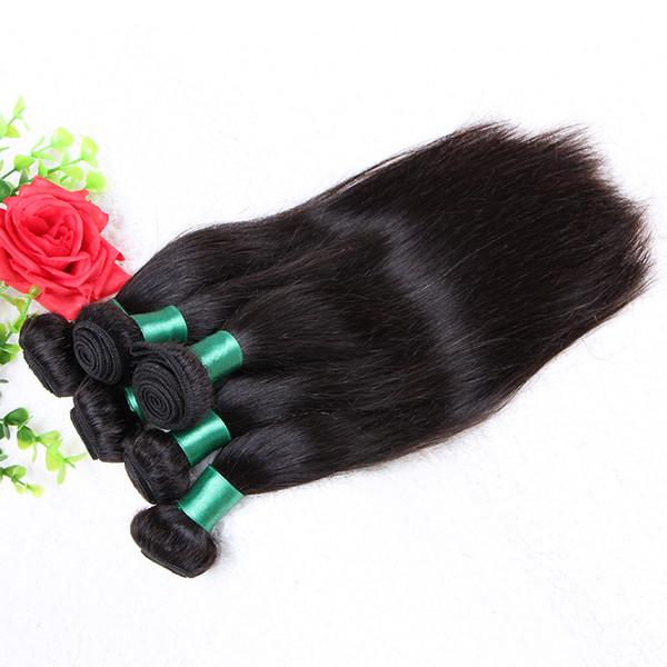 1kg Prix Usine Brésilien Raide Vierge Cheveux Péruvien Cambodgien Mongol Malaisien Raw Vierge Indien Trame de Cheveux Humains 10-28 pouce