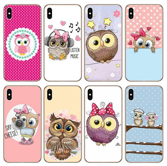 3D Cartoon Cute Animal Owl Painting Soft Case for IPhone X XS MAX XR 8 7 6 6S Plus 6plus Cases Luxury Designer Soft Kawaii Back Cover
