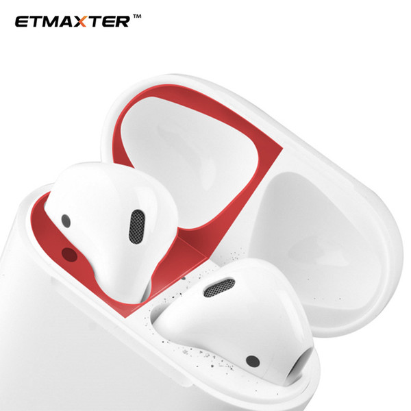 Hot Sale Metal Dust Guard Sticker for Apple AirPods Case Cover Dust-proof Protective Sticker Skin Protector Air Pods Accessories