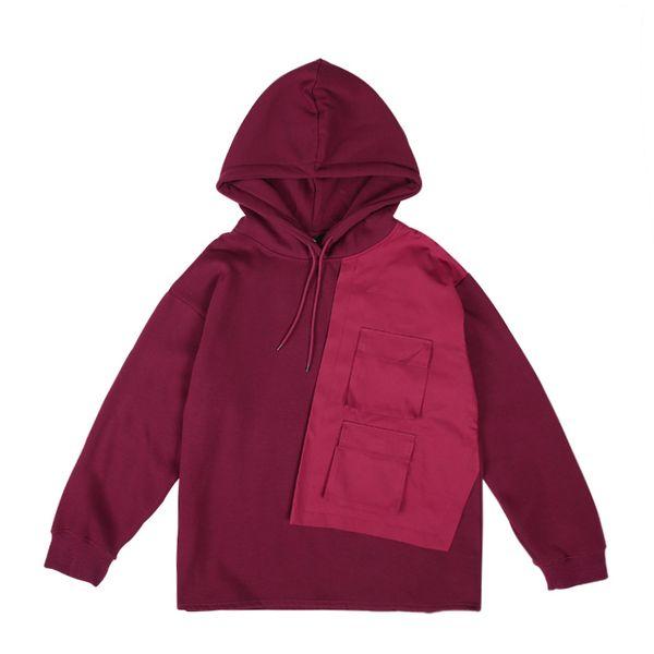 2019 Autumn Fall Winter delle donne degli uomini di moda Outwear maglioni giacca sportiva High Tops Patchwork giacche a vento casual con cappuccio M-2XL B101324Q