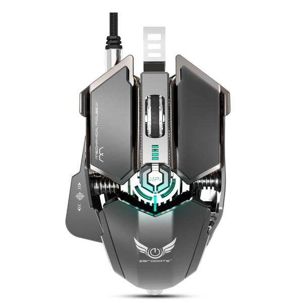 Rocketek usb mouse com fio para professional PUBG Mecânica macro definição gaming mouse ratos Ergonomia para Desktop PC jogo LOL