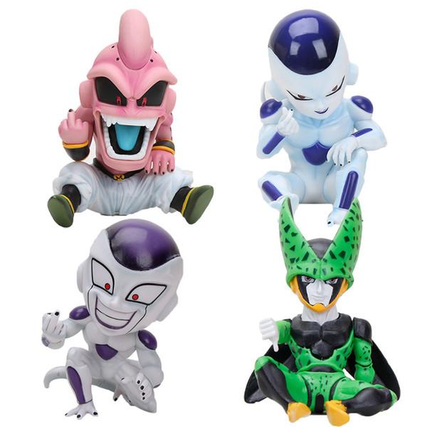 11 cm Anime Dragon Ball Fighter Z Majin Cell Pvc Action Figure Giocattoli Modello Kid Buu Freezer Frieza Fina Da C19041501