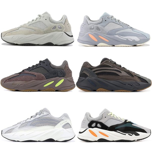 wholesale dealer 87e9a 625be Salt INERTIA 700 Kanye West Wave Runner Static 3M Reflective Mauve Solid  Grey Sports Running Shoes Men Women Sports Sneaker Shoes size 36-46