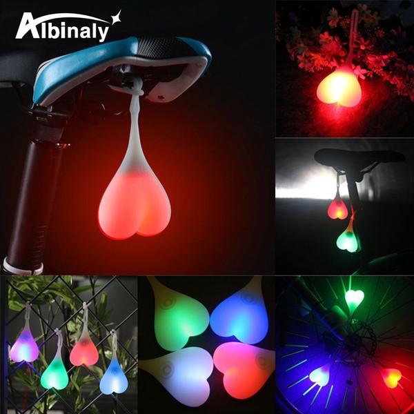 Étanche vélo bicyclette queue de silicone lampe créative nuit de bicyclette essentielle LED rouge voyant siège siège lumière d'oeuf