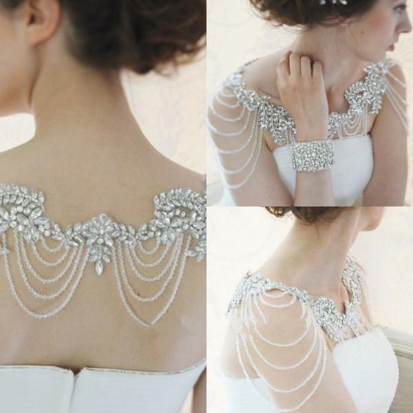 Luxury Wedding Jackets Shawl Rhinestones Beading Elegant Bridal Bolero Wrap Cape Custom New 2019 Bride Accessories