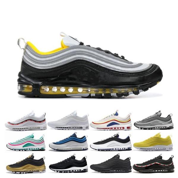 2019 nuove scarpe da corsa QS Metallic Pack per uomo donna sneakers designer uomo scarpe da ginnastica argento oro nero bianco Gym rosso sport