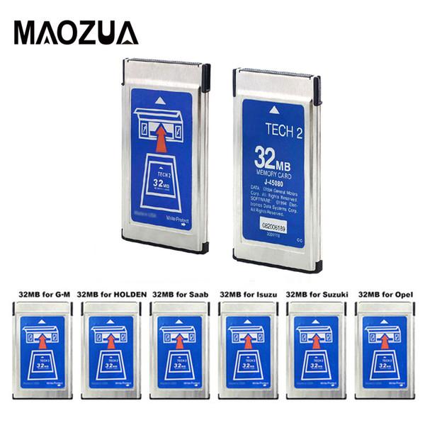 10PCS / LOT nuovi carta 32MB Per G M Tech2 6 Software MB opzionale Memoria per G M tecnologia 2 Scheda di Opel / SAAB / Holden / Suzuki