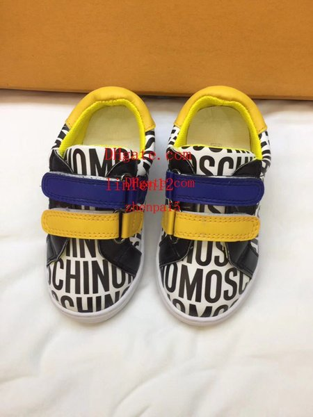 19ss brand New Running Shoes Kids Athletic Outdoor Cartoon embroidery pattern childrens Sports Shoes Baby boy girl fashion Sneakers M-K3