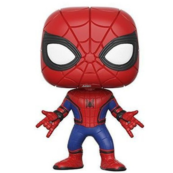 Q Version The Avengers Creative POP Spider-Man:Homecoming Orchid Finger Peter Benjamin Parker PVC Action Collectible Model Toy 10CM BOX G535