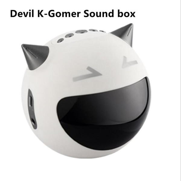 DHL Free shipping M8 Devil K-song Microphone Bluetooth speaker gift, multi-functional wireless time alarm clock small sound