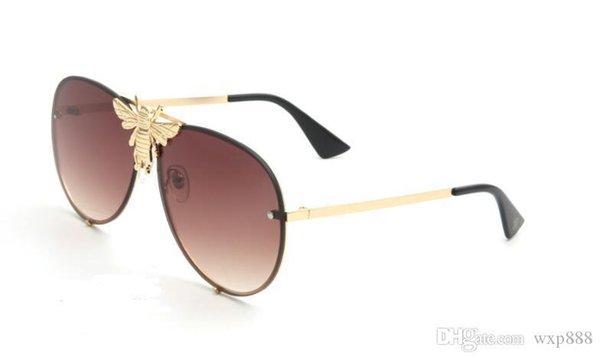 Metallo doppio trave Big Bee occhiali da sole di pendenza Lenti UV400 Retro Uomo Donna Shades guida Goggles