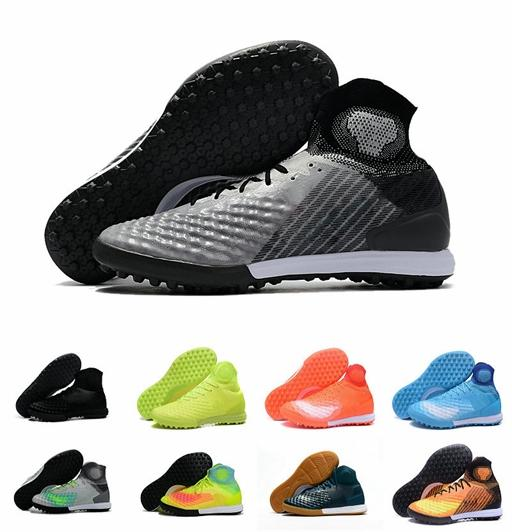 2019 FG Football Boots Men High Ankle Magista Obra II Soccer Shoes High Quality 3D Woven Upper Acc Soccer Cleats Size Eur 36-46