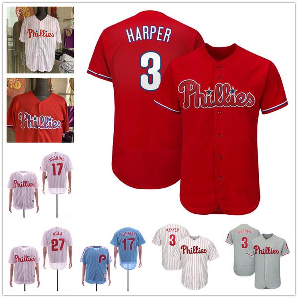 Philadelphia Discount Phillies Trikot 27 Aaron Nola 17 Rhys Hoskins 3 Bryce Harper Cool Base Flexbase Heim Auswärts