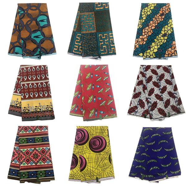Alta qualidade de cera de impressão Africano tecido 100% algodão real tecido de cera materail Nigeriano para roupas de costura JFL-967-987