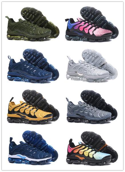 [Avec boîte] 2019 TN1 Original Mercurial Designer Sneakers Chaussures Homme Chaussures Hommes Femmes Zapatillas Mujer Mercurial Running