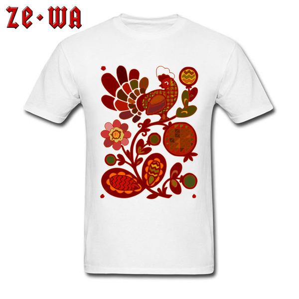 Único Homens Camiseta Galinha Tops Tees Desconto Roupas Galo de Estilo Chinês Impresso T-shirts 100% Algodão Personalizado Camisetas Brancas