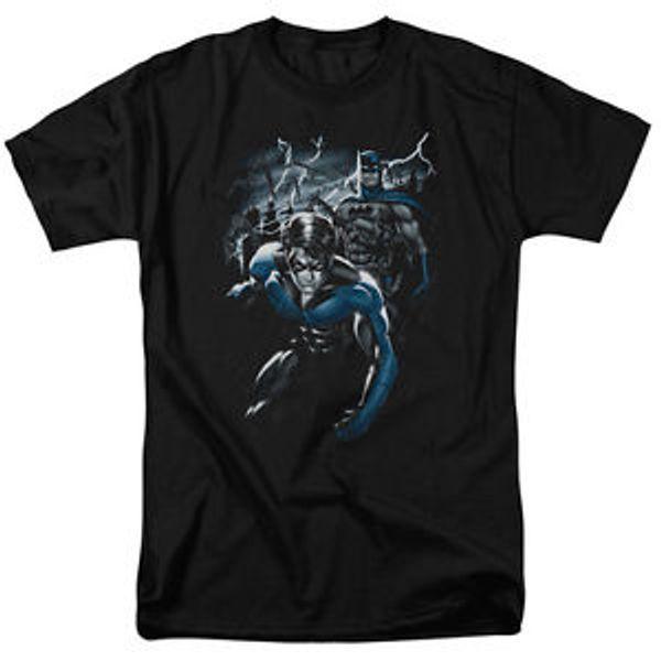 Nightwing Night Wing amp Design New Dyamic Duo Stormy Night Tee Shirt S 3XL