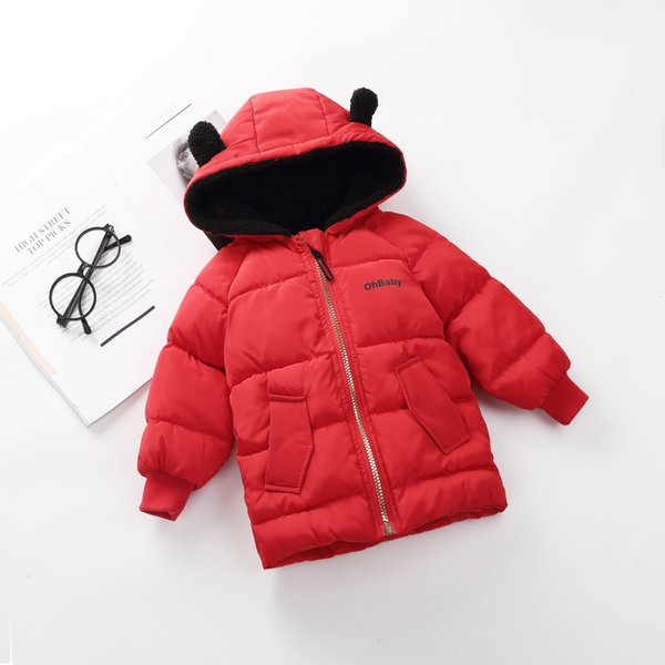 good quality boys coats 2019 fashion cotton kids cartoon fleece velvet hooded down parkas bebe children casual thicken outerwear