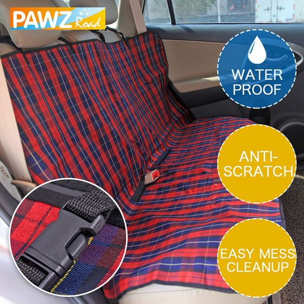 Products for Pet Plaid Dog Carriers Car Seat Cover Durable Puppy Cats Car Blanket Hammock Dog Cushion Mats Protector for Travel