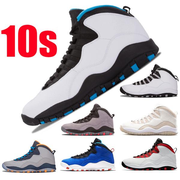 Nike Air Jordan Nouveau Jumpman 10s Bleu poudre Westbrook Rouge Chicago Chaussures de basketball pour hommes X Im back Cement 10 Tinker Bobcats Designer Sneakers Sport Trainer
