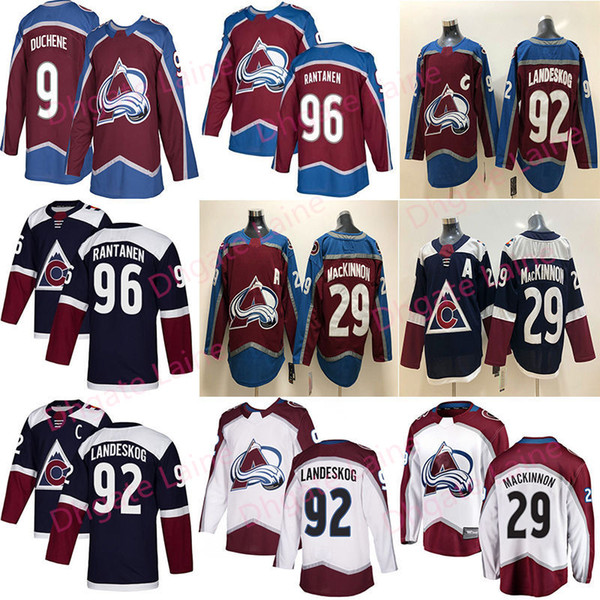 best selling Colorado Avalanche 29 Nathan MacKinnon 96 Mikko Rantanen 92 Gabriel Landeskog 9 Matt Duchene Hockey Jerseys