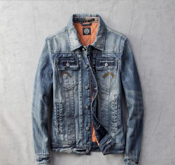 Outono denim 2019 homens e os homens do inverno para além de veludo acolchoado jaqueta jeans simples selvagem perturbado gola da jaqueta shirt Slim