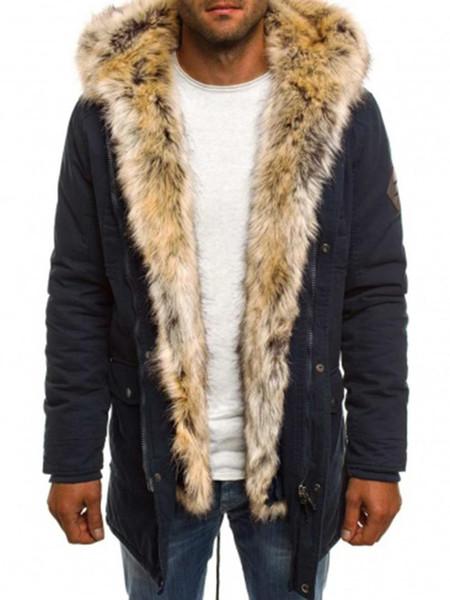 Kış için 2019 Moda Kış Yeni Ceket Erkekler Sıcak Coat Moda Günlük Parka Orta-Uzun Kıvam Coat Erkekler