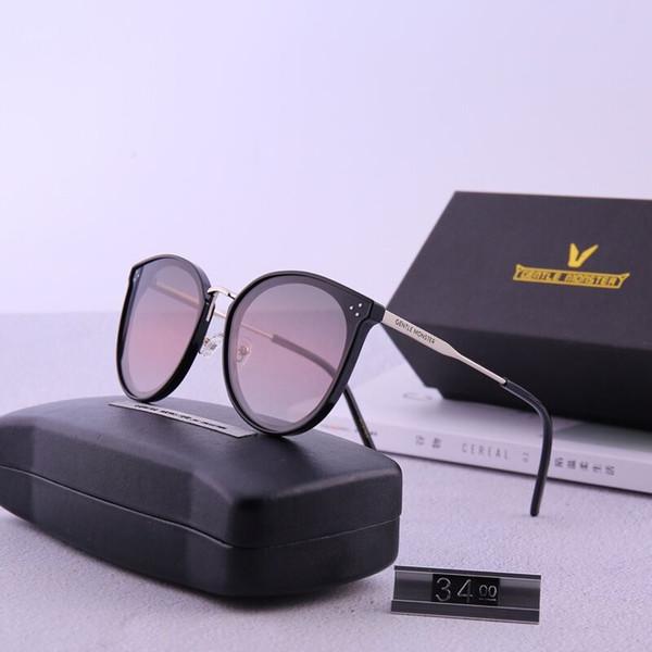 45f466e967 2018 Moda gafas de sol redondas Gafas Gafas de sol Diseñador de la marca  Marco de