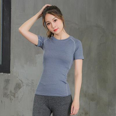 New Kind of Tight Fast Dry Clothes for Women Summer Spring and Summer Running T-shirt Sportswear Outdoor Fitness Clothes Yoga Short Sleeves
