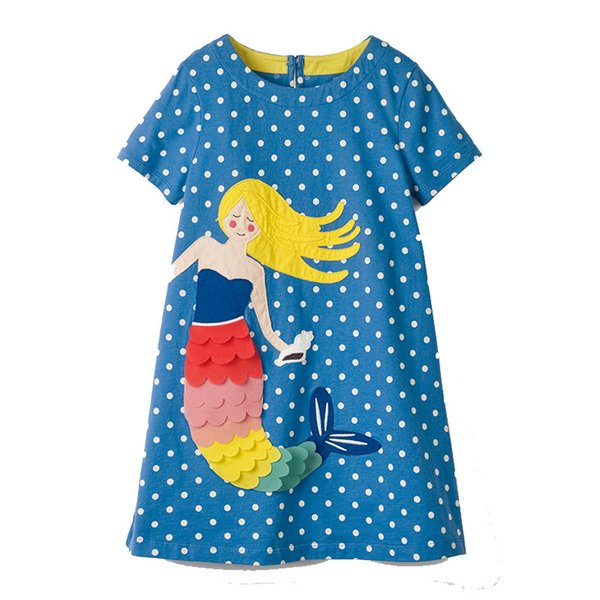 fc2a1217e7972 2019 Flamingo Embroidered Princess Dress 2019 Designer Kids Clothes For  Girls Summer Dress Unicorn Appliqued Baby Clothing Tunic Girl Clothes From  ...