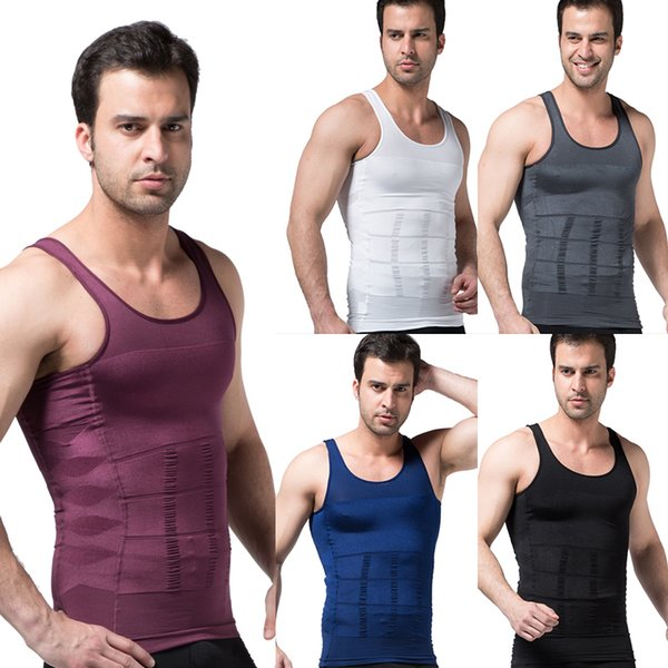 Running Vest Training Workout Tank Top Compression Fitness Tights Gym Men Sport Running Suit Sleeveless Man's T-shirt 1 Piece Q190428