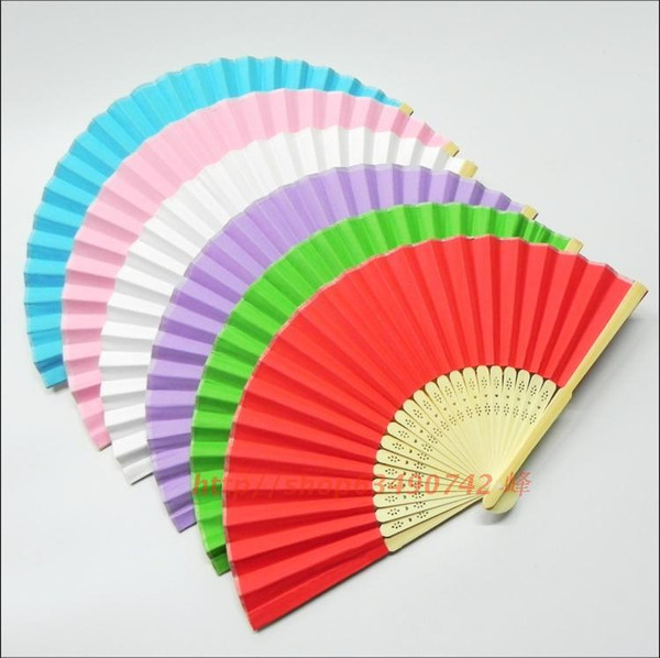"best selling Blank White Paper Folding Hand Fans Students Child DIY Fine Art Painting Practice Programs Fan 8"" 10pcs lot Free shipping"