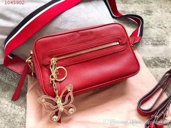 Latest Genuine leather one-shoulder bag Pure color square cross-body bag for women Fashion classic ladies bag