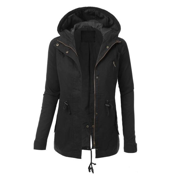JAYCOSIN Ladies Hoodie Sweatshirt Zip Up Plain Jacket Hooded Womens Jumper Hoody Coat Top long sleeve hooded jacket Sweatshirt