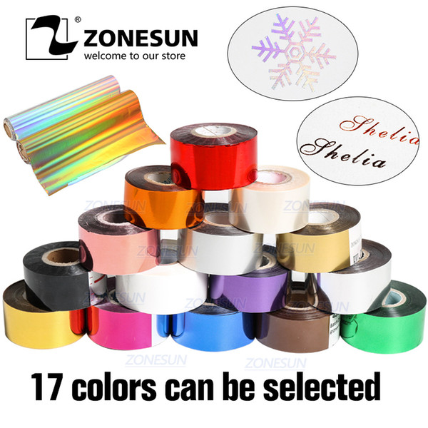 Zonesun 3cm Rolls Gold And Slilver Hot Stamping Heat Transfer Anodized Gilded Imitation Copper Leaf Foil Paper Q190528