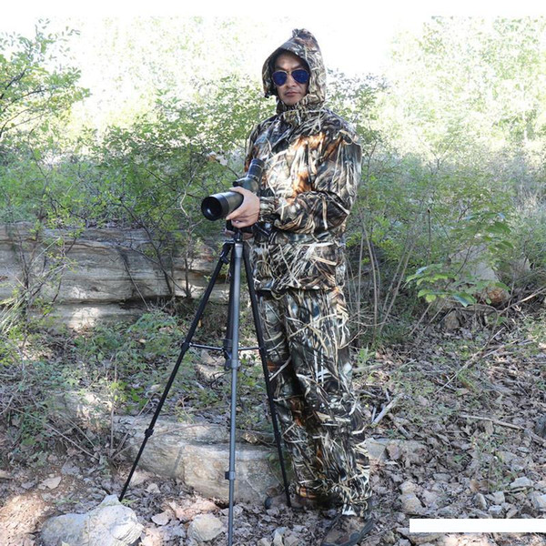 가을 방수, 조류 관찰 낚시 사냥 의류, 갈대 건초 생체 공학 위장 위장복, 재킷과 바지 정장