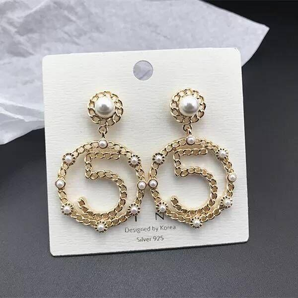 3d43ed5b78f 2019 New Design 5 Drop Earrings Fashion Brand Imitation Pearl 5 Circle  Dangle Earrings For Girls Gift Wholesale From Brands88, $1.83 | DHgate.Com
