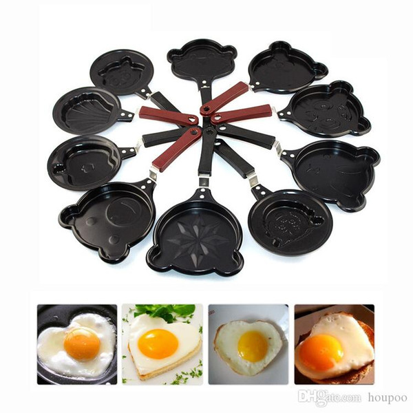 12*26cm Mini Bear Bunny Shaped Frying Pan Egg Chocolate Heating Cookware Non-stick Pots Dining Bar Kitchen Gadgets