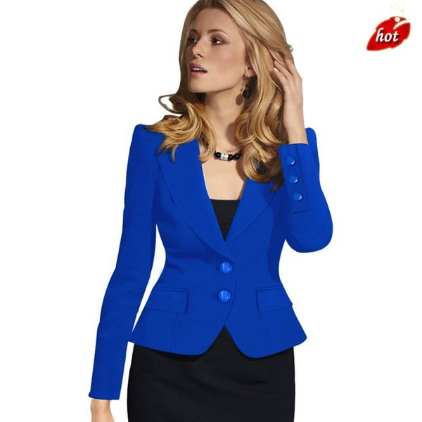 Ladies Blazer Feminino Formal Short Suit Two-button V-Neck Blazers Women Blazers Jackets for Women Slim Fit 4XL O8R2